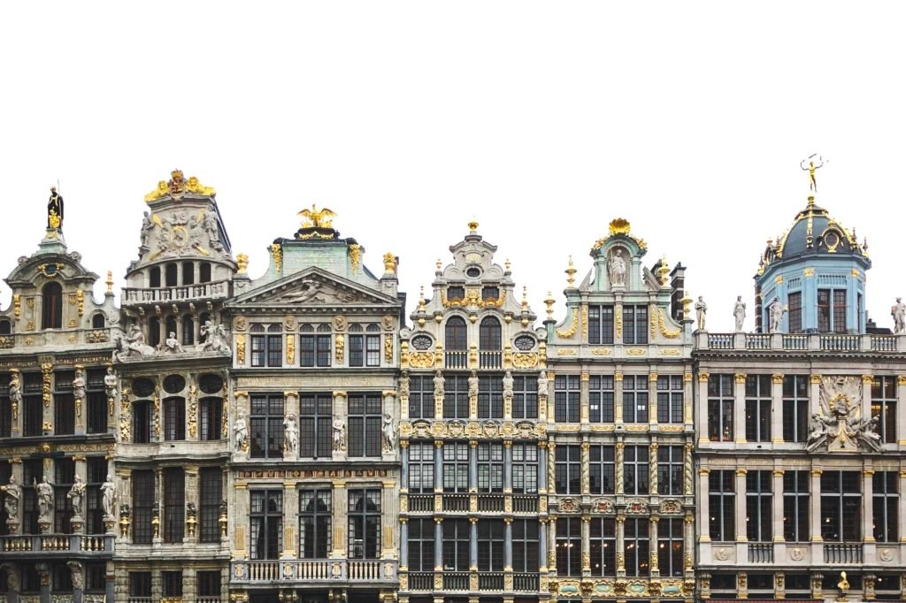 Guild Houses around Grand Palace in Brussels